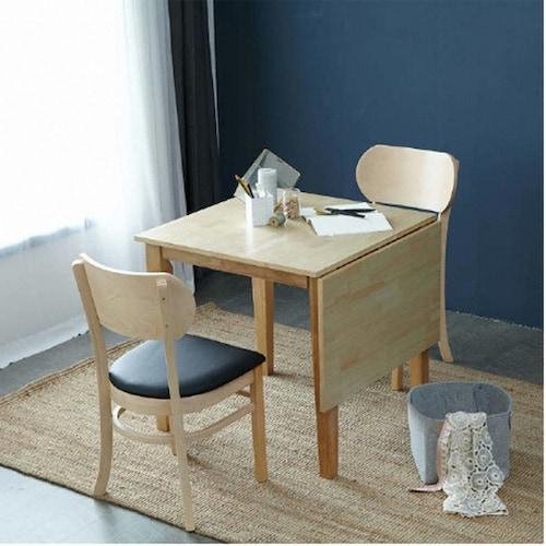 아씨방 드버 접이식 식탁세트 (의자2개)_이미지