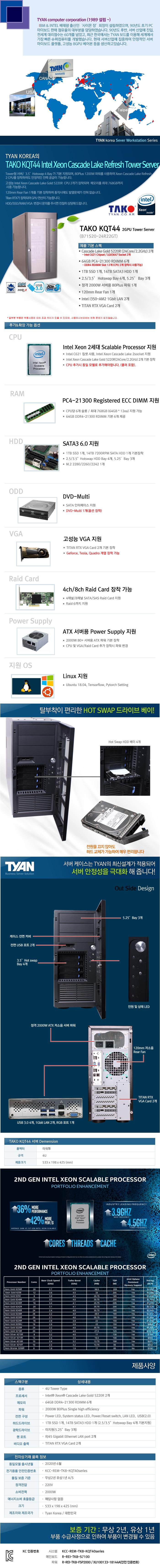 TYAN TAKO-KQT44-(B71S20-24R22GT)-2GPU (384GB, SSD 1TB + 14TB)