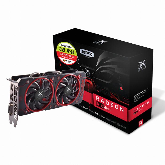 XFX 라데온 RX 460 BLACK Wolf OC D5 2GB 웨이코스