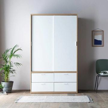 상일리베가구 빅 풀 슬라이딩 옷장 서랍형(120cm)