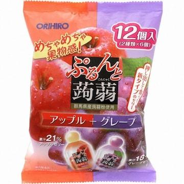 오리히로  곤약젤리 파우치 사과+포도 240g (12개)
