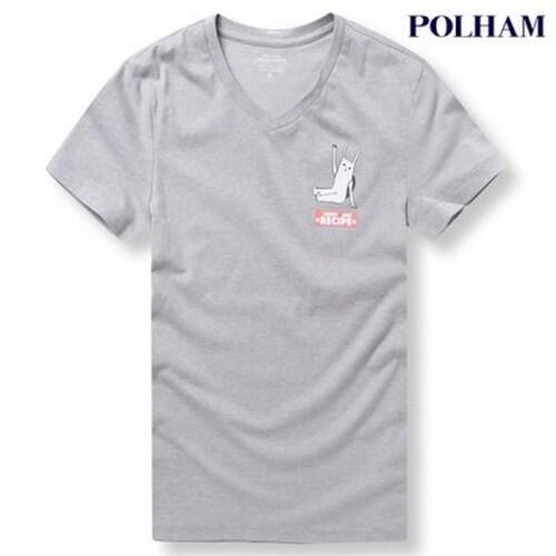 에이션패션 폴햄 공용 캐릭터 로고 티셔츠 PHU2TR3820_MGR_이미지