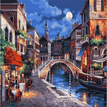 피포페인팅 DIY 명화그림그리기 Z082 베네치아의 카페풍경