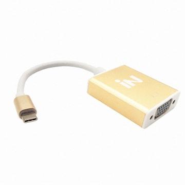 IN NETWORK USB 3.1 to VGA 골드메탈 컨버터 (IN-U31V15)