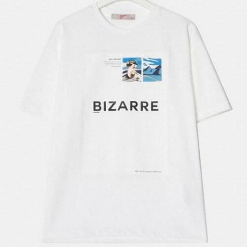 삼성물산 에잇세컨즈 남성 화이트 그래픽 포인트 티셔츠 219342AY81_이미지