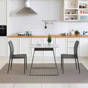 디자이너스룸 모티브 빈센트 세라믹 식탁세트 E 800 (의자2개)_이미지