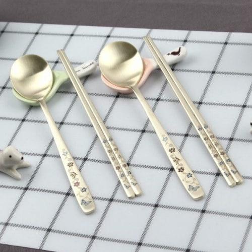 DM코리아  리치 컬러 티타늄 수저 (2개)_이미지