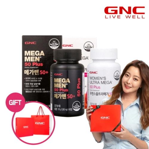 GNC 메가맨 50+ 60정+우먼스 울트라메가 50+ 60정 세트(1개)
