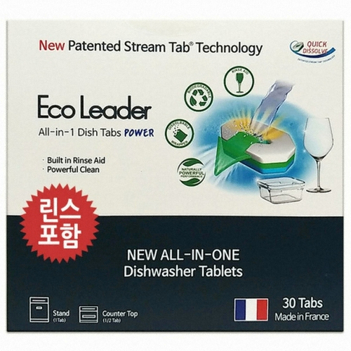 에코리더 올인원 식기세척기 세제 타블렛 30개(1개)
