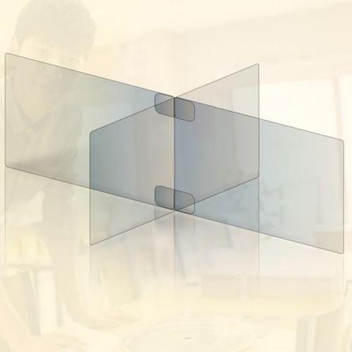 투명 아크릴 가림막 칸막이 4인용 소형