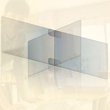 투명 아크릴 가림막 칸막이 4인용 소형_이미지