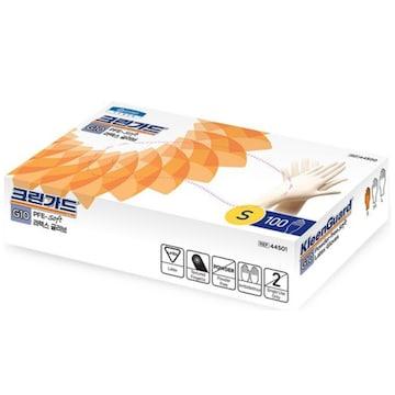 유한킴벌리 크린가드 G10 SOFT 라텍스 글러브 식품용 S 100매(1개(100매))