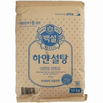 CJ제일제당 백설 하얀설탕 15kg(1개)