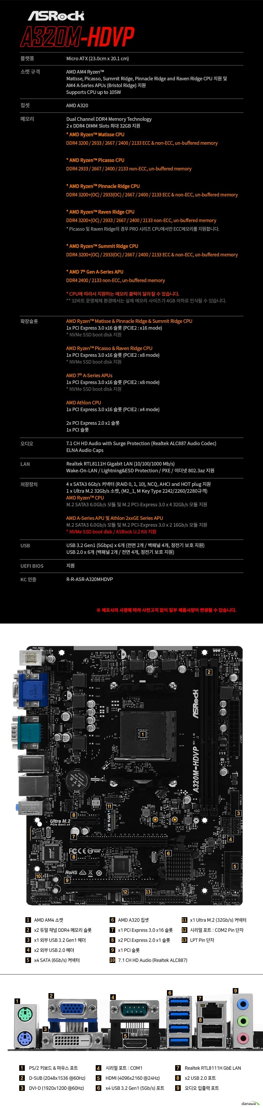 ASRock A320M-HDVP 디앤디컴