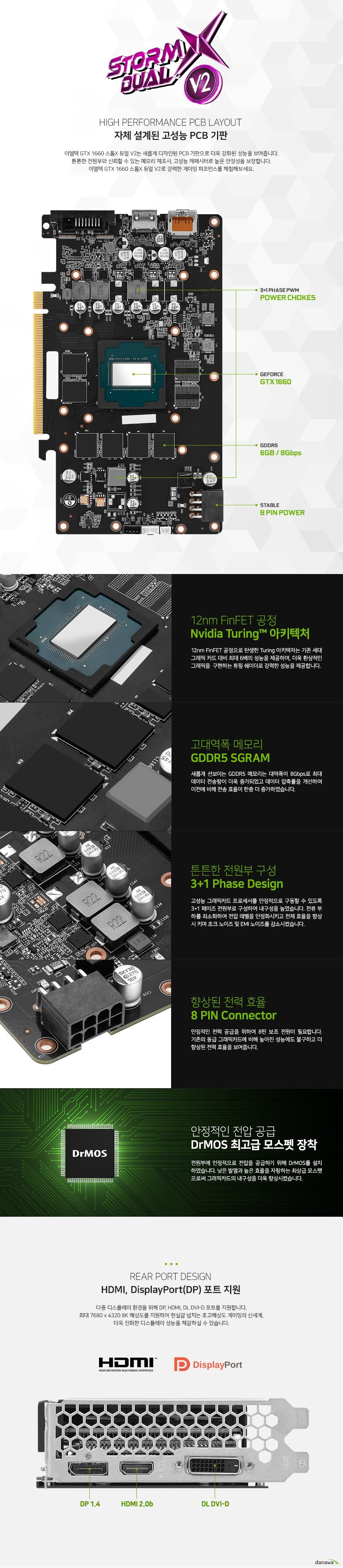 이엠텍 HV 지포스 GTX 1660 STORM X Dual V2 D5 6GB