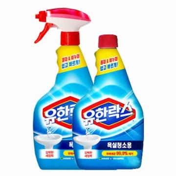 유한락스 욕실청소용 500ml+리필 500ml(1세트)