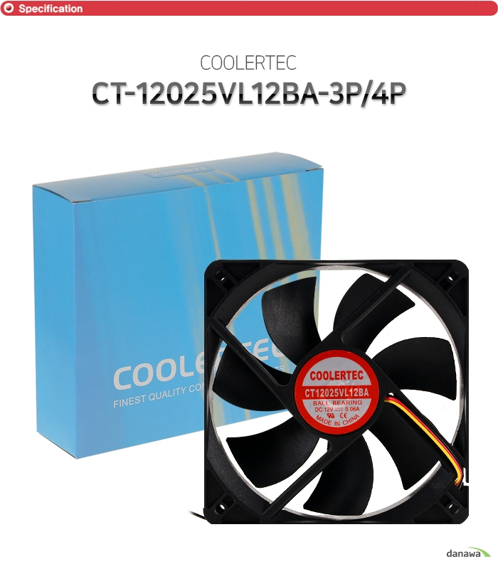COOLERTEC  CT-12025VL12BA-3P 4P