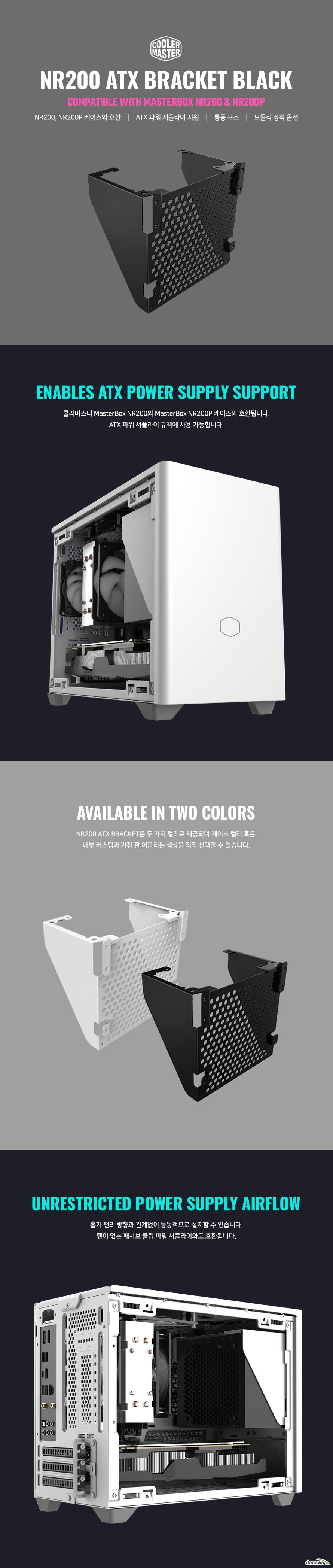 쿨러마스터 NR200 ATX PSU 브라켓 (블랙)
