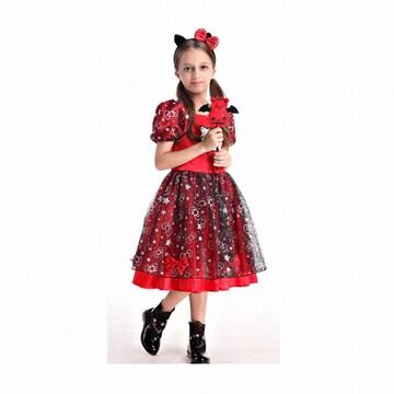 한중 캣 레드마녀 드레스 코스튬