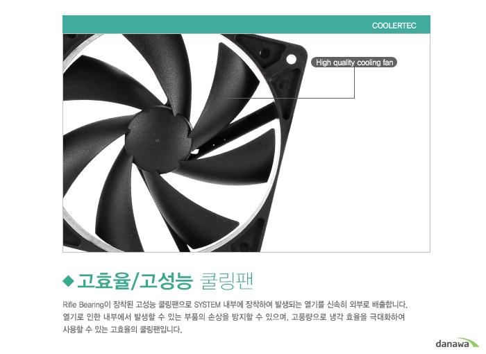 COOLERTEC CT-6025L12R-4P 고효율/고성능 쿨링팬