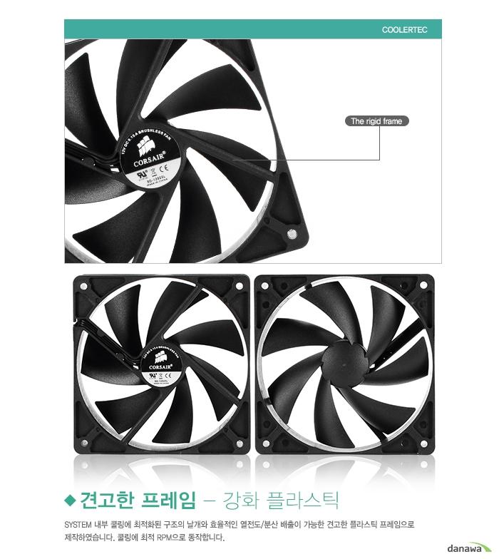 COOLERTEC CT-6025L12R-4P 견고한 프레임 - 강화 플라스틱.