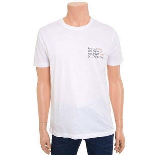 에이션패션 엠폴햄 남여공용 스몰 레터링 포인트 티셔츠 EPX2TR1954_이미지