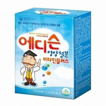 에프앤디넷 에디슨 영양철분 비타민플러스 60포 (1개)