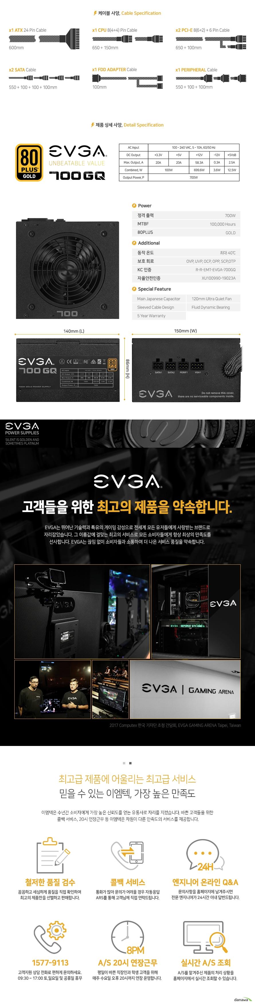EVGA  700 GQ 80PLUS GOLD