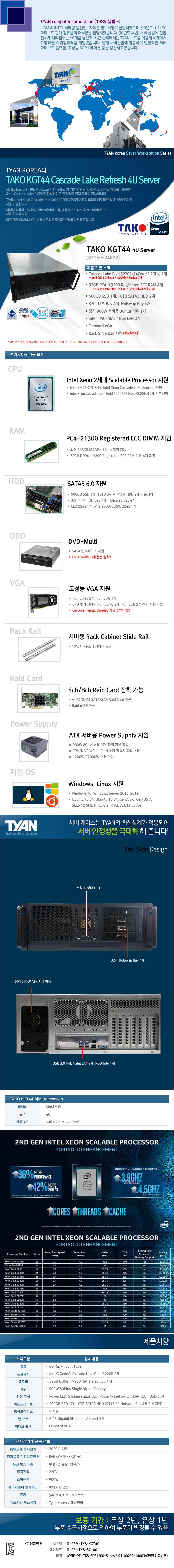 TYAN TAKO-KGT44-(B71S9-24R22) (128GB, SSD 500GB + 20TB)