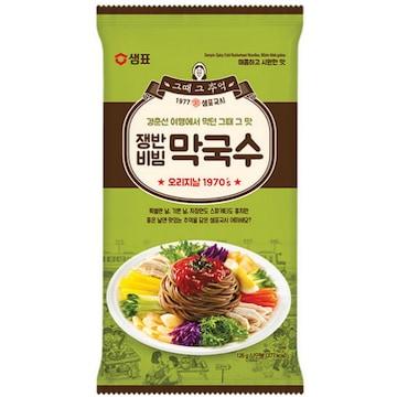 샘표식품 쟁반비빔 막국수 141g(1개)