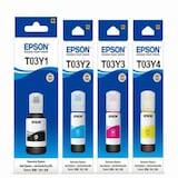 Epson 정품 T03Y (T03Y1 + T03Y2 + T03Y3 + T03Y4) 4색 세트 (단일상품)