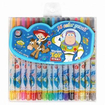디즈니 토이스토리 색연필(16색)