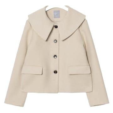 에잇세컨즈 와이드 칼라 쇼트 재킷