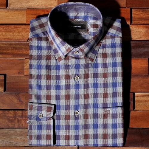 루이까또즈  긴소매 체크무늬 셔츠 Q3365A_이미지