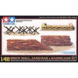 타미야 1/48 Brick Wall Sand Bag and Barricade Set