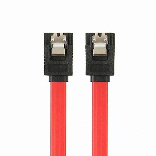 탑라인에이치디 HDTOP SATA Lock flat 케이블 (0.3m, HT-SA03)_이미지