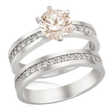 [여] 로얄다이아몬드 GIA다이아몬드 1캐럿 셀레앙 반지+가드링 1종