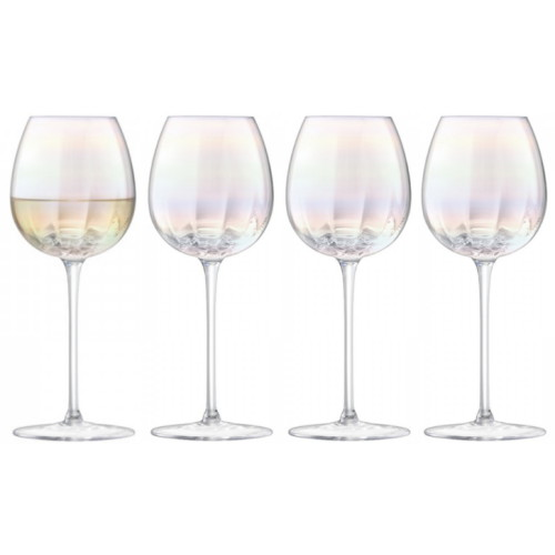 엘에스에이 LSA 펄 진주 컬러 화이트 와인잔 325ml(4개)