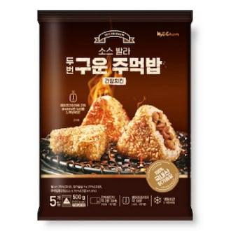 교촌 소스 발라 두번 구운 주먹밥 간장치킨 500g (1개)_이미지