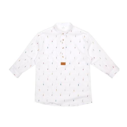 모노핏옴므  헨리넥 보이 패턴 7부 셔츠 HTS0301884_이미지