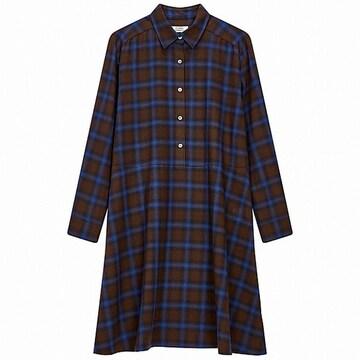 톰보이 체크 패턴 셔츠 원피스