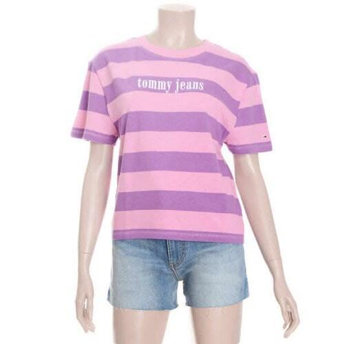 타미진 여성 코튼 헤비 져지 로고 반소매 티셔츠 T31J6TTO035WT1_이미지