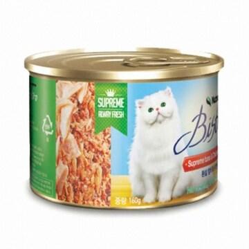 카길애그리퓨리나 뉴트리나 비스트로 고양이캔 흰살 참치와 닭안심 160g