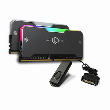 LEADCOOL RH-1 ARGB 메모리 방열판 실버 KIT (2PACK/Controller)_이미지