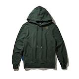 코오롱인더스트리 커스텀멜로우 burning smile over-fit hoodie sweatshirts CQTAW17612GRX_이미지