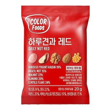 선명농수산 썬넛트 컬러푸드 하루견과 레드 20g