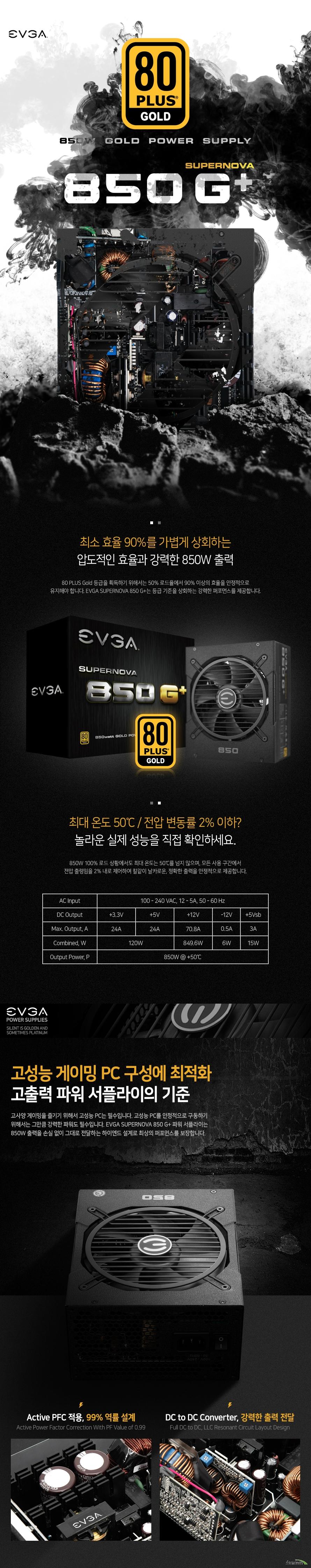 EVGA SUPERNOVA 850G+ 80PLUS GOLD