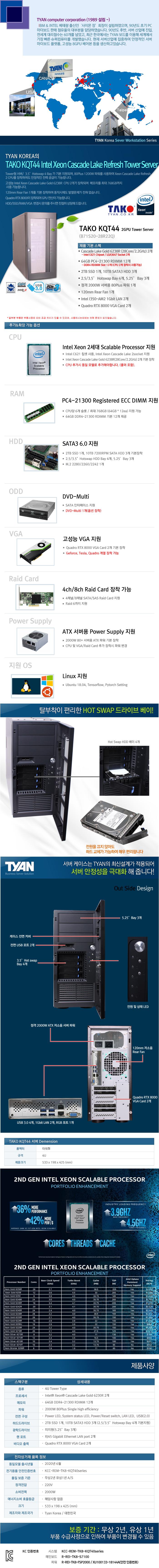 TYAN TAKO-KQT44-(B71S20-28R22Q)-2GPU (768GB, SSD 2TB + 30TB)