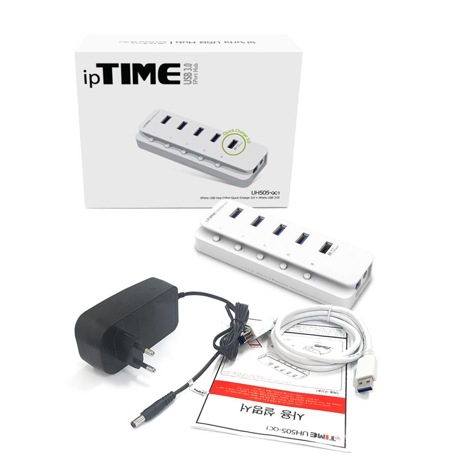 EFM ipTIME 4포트 USB 3.0 허브 (UH505-QC1)