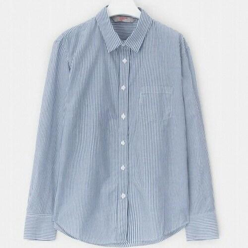 삼성물산 에잇세컨즈 로열 블루 베이직 스트라이프 셔츠 328764CY1N_이미지